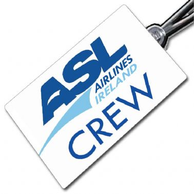 ASL AIRLINES IRELAND Crew Tag